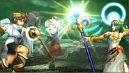 Créditos Modo Leyendas de la lucha Palutena SSB4 (3DS)