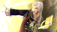 Daraen mujer usando Arcthunder SSB4 (Wii U)