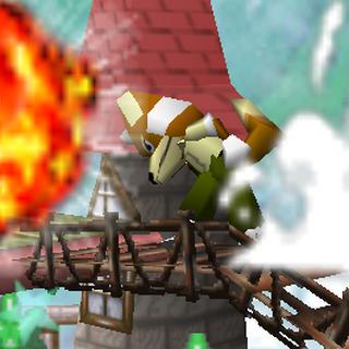 Explosión de un <i>Bob-omb</i> en <i>Super Smash Bros.</i>