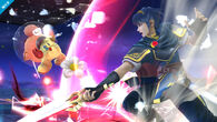 Marth atacando a Olimar - (SSB. for Wii U)