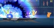 Pikachu atacando con Placaje eléctrico SSB4 (3DS)
