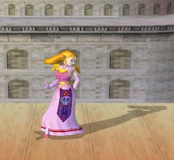 Pose de espera de Zelda (3-2) SSBM