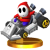 Trofeo de Shy guy (kart estándar) SSB4 (3DS)
