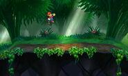 Zona boscosa de la Smashventura Versión Final (1) SSB4 (3DS)