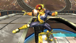 Ataque Smash hacia abajo Captain Falcon SSBB (2)