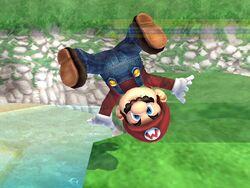 Burla hacia abajo (2) Mario SSBB