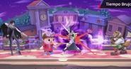 Movimiento especial hacia abajo de Bayonetta (2) SSB4 (Wii U)