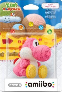 Embalaje del amiibo Yoshi de lana rosa (serie Yoshi's Woolly World)