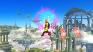 Karateka Mii usando Puños meteoro (2) SSB4 (Wii U)