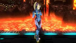 Pose de espera de Samus Zero (1-2) SSB4 (Wii U)