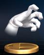 Trofeo de Crazy Hand SSBB