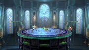 Yoshi, Pit y Aldeano en la Liga Pokémon de Kalos SSB4 (Wii U)