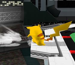 Ataque de recuperación desde el borde 100% de Pikachu SSBM