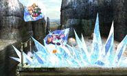 Bowser y Donkey Kong siendo afectados por el ataque de Kotake SSB4 (3DS)