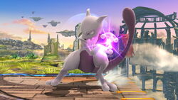 Ataque Smash lateral Mewtwo (1) SSB4 (Wii U)