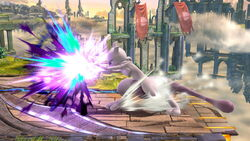 Ataque Smash lateral Mewtwo (2) SSB4 (Wii U)