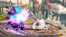 Ataque Smash lateral Mewtwo (2) SSB4 (Wii U)