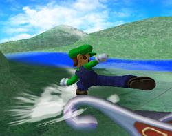 Ataque de recuperación desde el borde 100% de Luigi SSBM