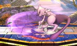 Ataque fuerte hacia abajo Mewtwo SSB4 (3DS)