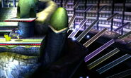 Escaleras desprendiendose en la Liga Pokémon de Teselia SSB4 (3DS)