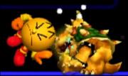 Pac-Man Usando Su Golpiza Contra Bowser SSB 3DS