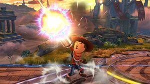 Ataque Smash hacia arriba Tirador Mii SSB4 Wii U