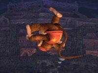 Ataque aéreo superior Diddy Kong SSBB