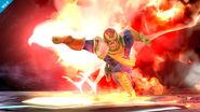 Captain Falcon usando su Gancho de fuego en Destino final SSB4 (Wii U)