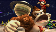 Créditos Modo Senda del guerrero Donkey Kong SSB4 (3DS)