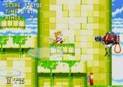 Eggrobo disparando a Tails Sonic The Hedgehog 3 & Knuckles