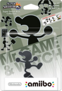 Embalaje del amiibo de Mr. Game & Watch