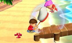 Lanzamiento hacia adelante Aldeano SSB4 (3DS)