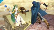 Marth y Palutena en el Reino del Cielo SSB4 (Wii U)