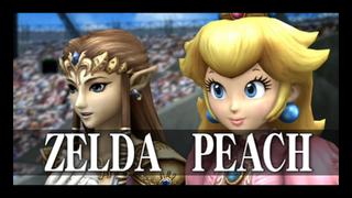 Zelda y Peach en el Emisario subespacial SSBB