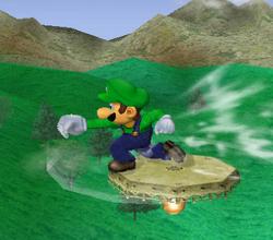 Ataque de recuperación de cara al suelo de Luigi (2) SSBM