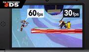 Comparacion de fotogramas por segundo en SSB4 (3DS)
