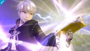 Daraen y su libro de Magia de trueno SSB4 (Wii U)