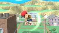 Ataque aéreo hacia arriba Ness SSB4 (Wii U)