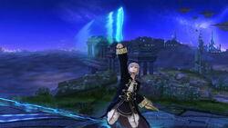 Ataque fuerte superior Robin SSB4 (Wii U)