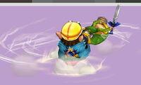 Lanzamiento hacia atrás de Wario (2) SSB4 (3DS)
