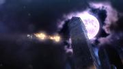 Vista de la Torre del reloj de Umbra en Bayonetta 2