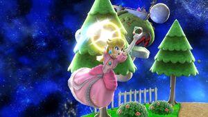 Ataque aéreo hacia adelante Peach SSB4 Wii U