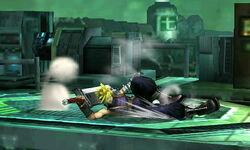 Ataque fuerte hacia abajo Cloud SSB4 (3DS)