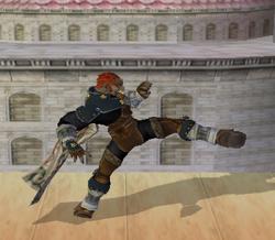 Ataque fuerte lateral de Ganondorf SSBM