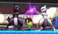 Dos Mewtwo en Tomodachi Life SSB4 (3DS)