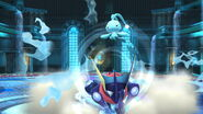 Greninja y Manaphy en Liga Pokémon de Kalos SSB4 (Wii U)