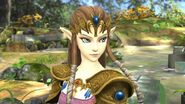La princesa Zelda en el Vergel de la esperanza SSB4 (Wii U)