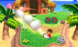 Lanzamiento hacia atrás Aldeano (2) SSB4 (3DS)