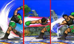 Variaciones del Ataque Smash lateral de Little Mac SSB4 (3DS)