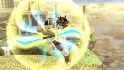 Ataque aéreo normal Pit SSB4 Wii U